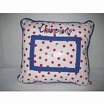 Oil Cloth PIllow - Champions