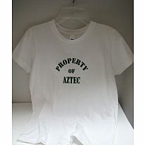 Tee White Property of Aztec