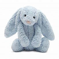 Bashful Blue Bunny with Chime