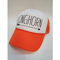 Trucker Hat Longhorn Orange