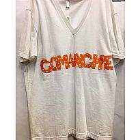 Applique Tee Comanche White