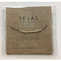 Morse Code Necklace Tejas