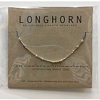 Morse Code Necklace Longhorn
