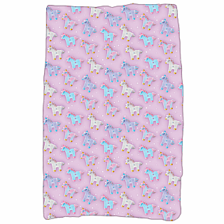 Plush Blanket - Unicorn and Stars