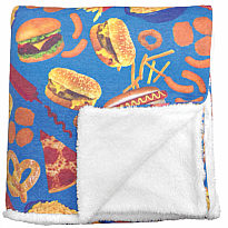 Sherpa Plush Blanket - Junk Food
