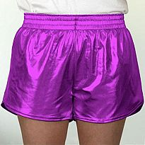 Azarhia Short Metallic Purple YS