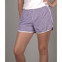 Azarhia Short Gingham Purple AS